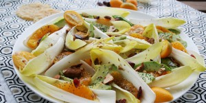 Salade d'endives aux kumquats, à l'avocat et à l'orange