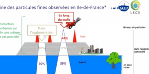 Pic de pollution de mars 2014 en Ile-de-France : origine des particules fines
