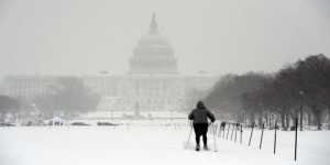 EN IMAGES. Neige tardive sur Washington