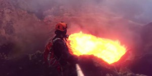 VIDEO. Ils plongent au coeur d'un volcan en éruption