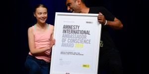 Climat : Greta Thunberg honorée par Amnesty International, semaine de manifestations à New York