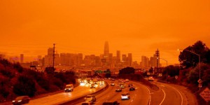 Le ciel de San Francisco vire à l'orange à cause de gigantesques incendies