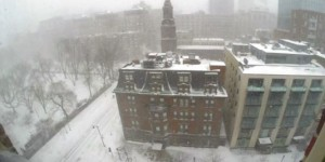 Time Lapse : Boston sous 60 cm de neige