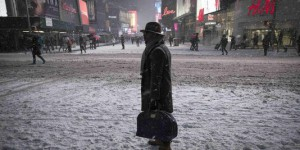 Time lapse : la neige s'accumule à Time Square