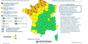 Orages : seize départements placés en vigilance orange