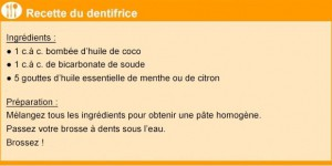 Comment faire son dentifrice maison ?